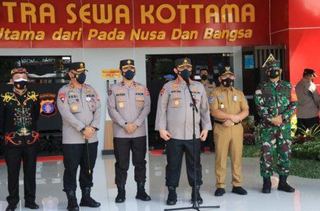 Gubernur Kalimantan Tengah H. Sugianto Sabran saat menghadiri Peresmian dan Launching Pembangunan Fasilitas Pelayanan Publik Polda Kalteng. (foto/mmckalteng)